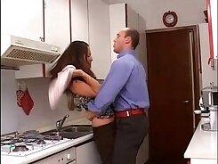 Amele abuses her huge mone changes a way of handling husbands big dildos