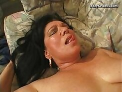 big tit granny rubs hard and gets anally fucked