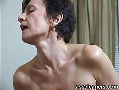 Astonishing milf with massive rack gets her ass hole licked