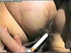 Chained slave in torture has to keep breathing