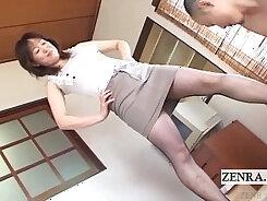 Curvy Japanese Milf Natsumi gives a head before titfucking