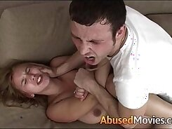 Booty brunette abused and fucked