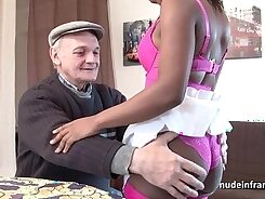 Curvy Ebony Slut In Lingerie Fingers Her Asshole