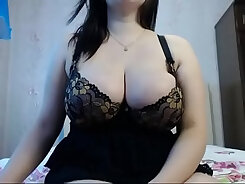 Busty Russian Private Orgasm On Webcam