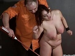 Chubby amateur threesome Rough cum-swapping BDSM session