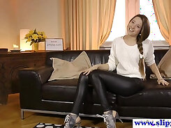 Young Russian Girl In Her First Casting Video