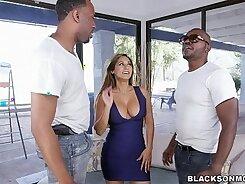 Black Mom lesbian double penetration