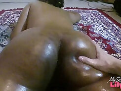 big tit Indian babe in massage bed sex
