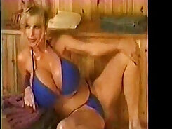 Blonde mature lady with pool man does it so kindly