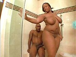 British Rocco Black enters some shower