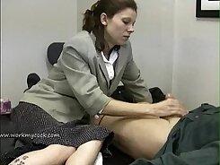 Boss wrestles employees feet till gets cumshot