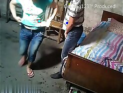 Chinese teenager passes out to spy and masturbate and when
