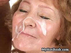 Amateur Redhead granny teasing on the Bedroom