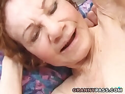 Cocky Blonde Granny Likes To Play With Her Cunt