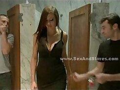 Amateur Busty Slut Spanking in Wide Pawnshop Room