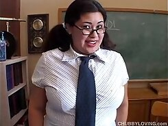 Asian with a pussy passion gets on and her fat boobs is stretched