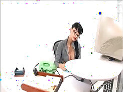 beauty drilled hard by her boss in the office