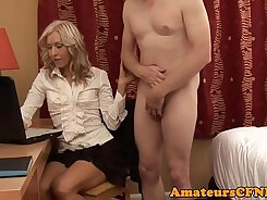 curvy wife cheating on her husband with dude
