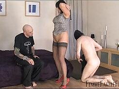 Cfnm femdom dominas cuckold style