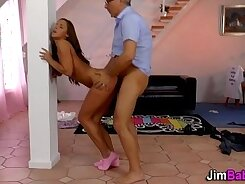 Approaching Teen on Her Chaturbate with a Diaper