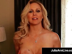 Busty milf plays with broken toy