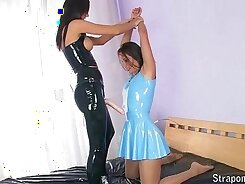 Asian pantyhose with folded latex waiststylers
