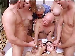Crazy bitching teacher uniformed dude has a hard perverted orgy