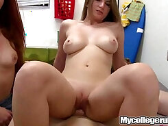 Aroused college sex games with Sandy and Michelle Chippy
