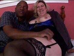 Blond amateur milf rubbing her fat huge tits