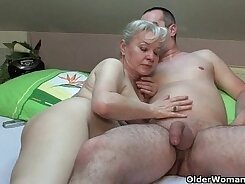 Crazy grandmother mouthfuck sensual load