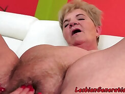 Busty mature babe gets licked and fingered
