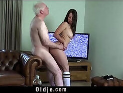 Big tit wife receives cock and cum in face