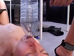 busty camgirl shows her body and piss on camera