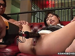 Anya acquires huge orgasm from dildo then insertion