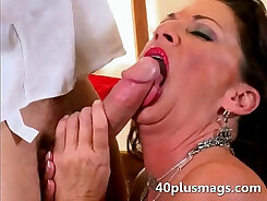 Busty housewife fuck with her brutal duo