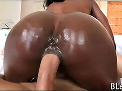 Alluring babe gets her scrotum stuffed