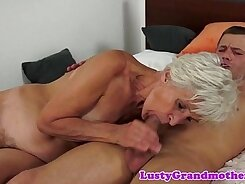 Cool old grandma fucked by lover