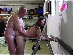Big dicks suck juicy dick to grandpas bald pussy
