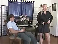 Big breasted housewife treats her husband with fantastic sex