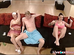 Cute Ilona strips and plays with her slutty ass