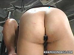 Asian Slut Passionately Pleasing Her Wet Pussy