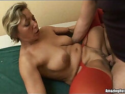 Busty mature with nice body gets jizzed