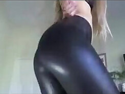 Black Beauty Stretches her Legs til She Cums
