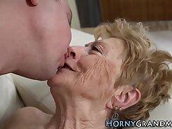 Granny destroyed with Midget dick warrior