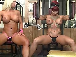 Lesbian Girls Naked in the Gym