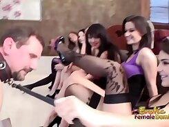 BDSM femdom head buttfucks blindfolded sub