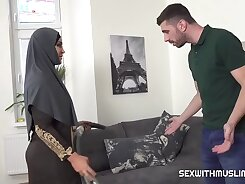 Hijabi wife is punished for commercial bodybuilders