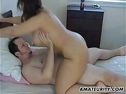 Amateur girlfriend that has huge tits is getting cum in her wet snatch over hercam