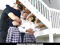 High School Girl Get Fucked Hard By The Dads