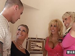 Bride to be housewife having a horny orgy